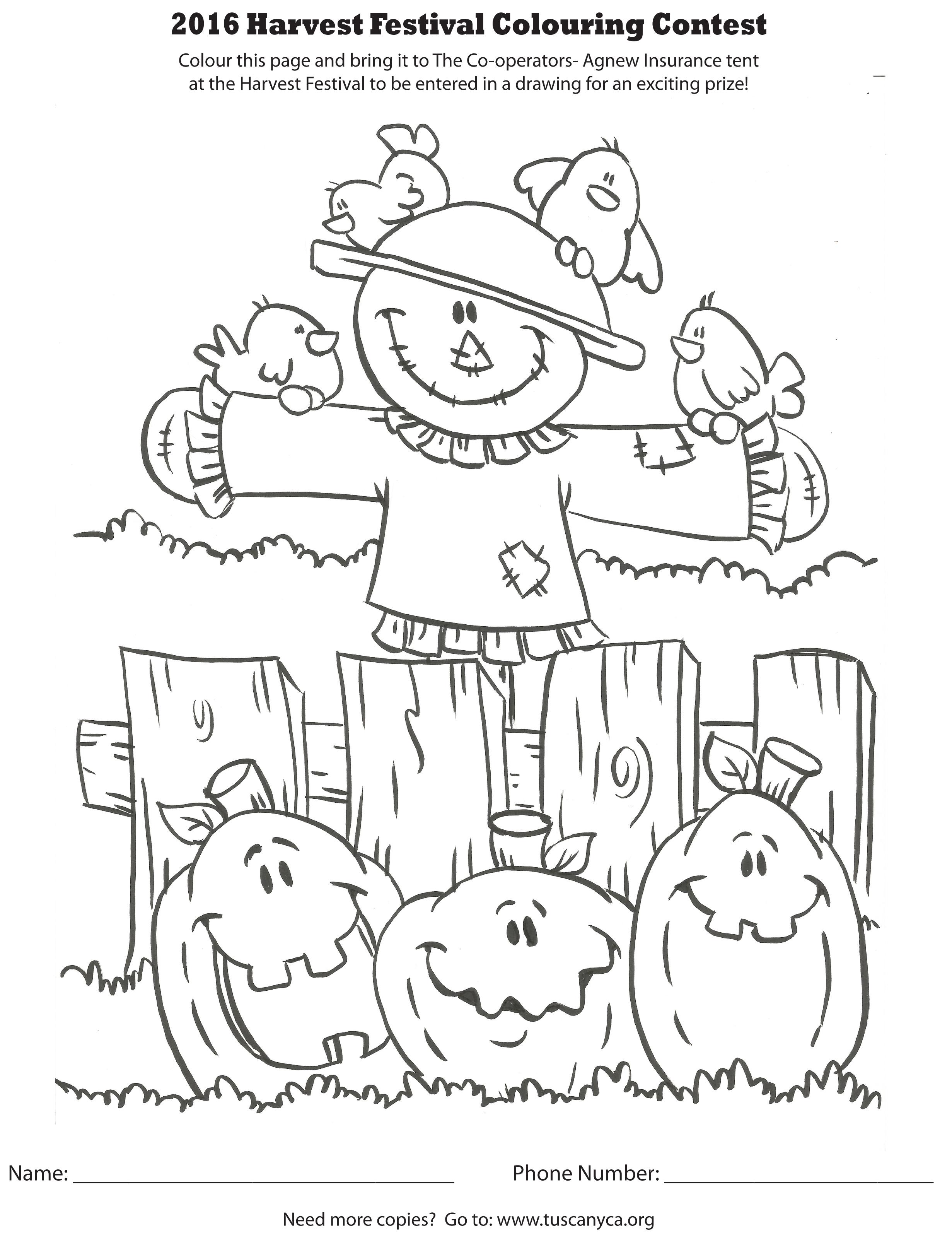 Dltk Coloring Pages Fall Festival
